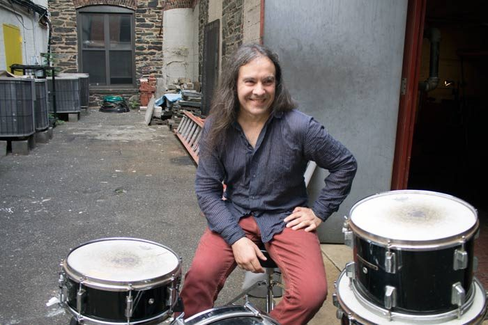 Martin-Bisi-drums-outside